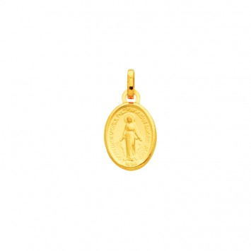 Médaille Vierge Miraculeuse 9 *18mm Or750