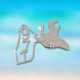 Pendentif Carte Guadeloupe Argent925