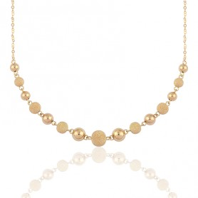 Collier Chaîne Grain D'or 5 A 8.5mm 45cm Or750