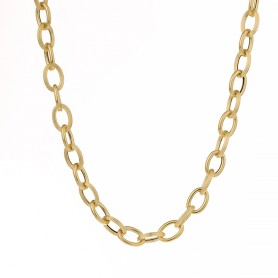 Collier Forçat Antillais 8mm 45cm Or750
