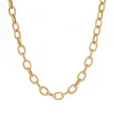 Collier Or750 Maille Forçat Antillais 10mm 50cm