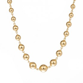 Collier  Grain D'or 3 A 10mm Or750 45cm