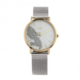 Montre Carte Martinique Argenté Brac Mesh Argenté