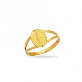 Bague Vierge Miraculeuse Taille 56 Or750