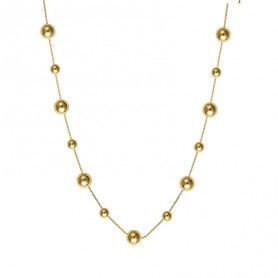 Collier Grain D'or Or750 42A45cm