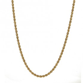 Collier Corde 3.2mm 50cm Or750