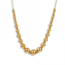 Collier Grain D'or Or750 3-9mm 42 A 45cm