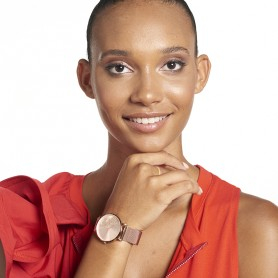 Montre Carte Martinique Rosé Brac Mesh Rosé