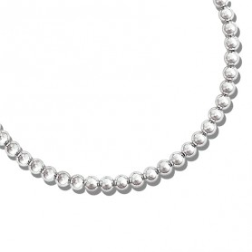 Collier Grain D'argent 10mm Argent925 45cm