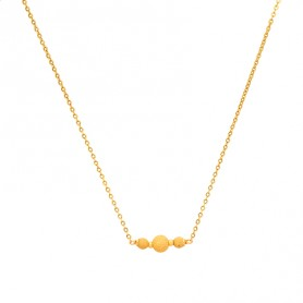 Collier Grain D'or Or750 45cm