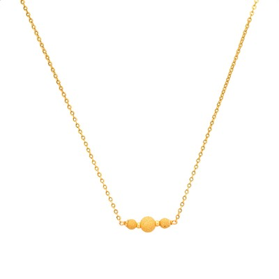<p>Collier Or750 Chaîne Grain D'or Sablé 4 A 6mm 45cm</p>