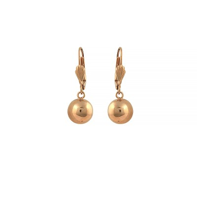Boucles D'oreilles Plaqué Or Pendant 30mm Au Total Grain D'or 10mm