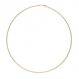 Collier Rigide Omega 40cm Plaqué Or