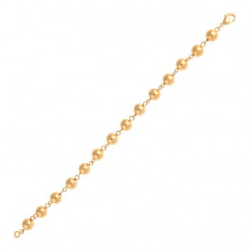 Bracelet Grain D'or 8mm 21cm Plaqué Or 21cm