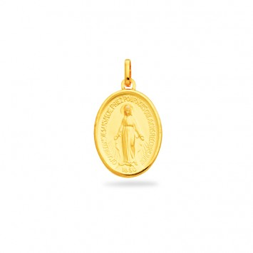 Médaille Vierge Miraculeuse 16*27mm Or750