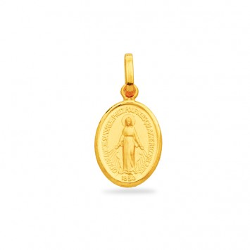 Médaille Vierge Miraculeuse 10*20mm Or750