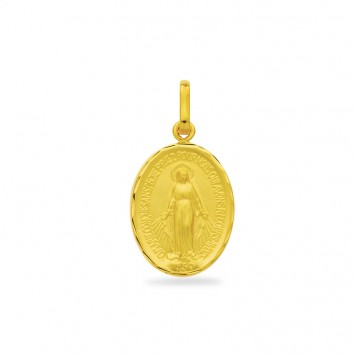 Médaille Vierge Miraculeuse 12*22mm Or750