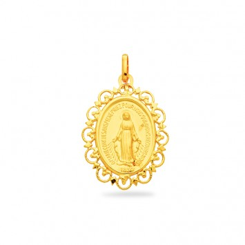 Médaille Vierge 20 *30mmOr750