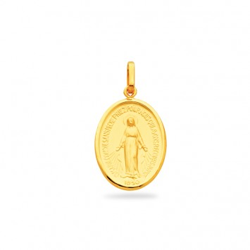 Médaille Vierge Miraculeuse 14*25mm Or750