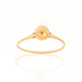 Bague Grain D'or 6mm Taille 56 Or375