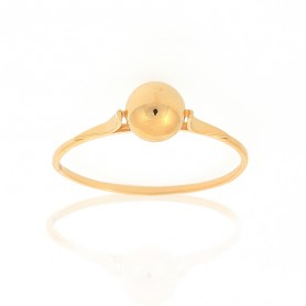 Bague Grain D'or 6mm Taille 58 Or375