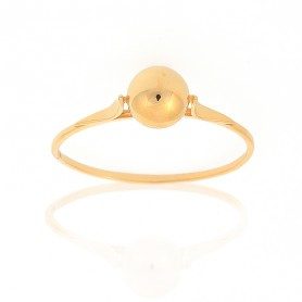 Bague Grain D'or 6mm Taille 60 Or375