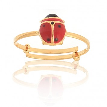 Bague Coccinelle Or375 Ajustable Taille 46 A 48