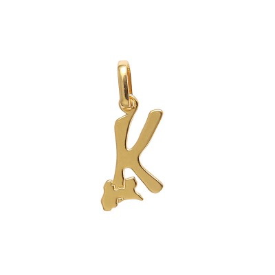Pendentif Or375 Initiale K Carte Guadeloupe 10*19mm