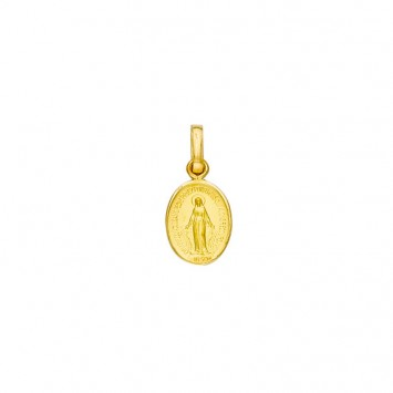 Médaille Vierge Miraculeuse Ovale 7*16mm Or375