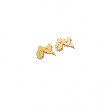 Boucles D'oreilles Guadeloupe 9*6mm Or375