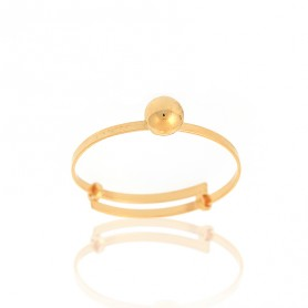 Bague Grain D'or 4mm Or375 Ajustable