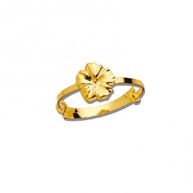 Bague Hibiscus Or375 Ajustable