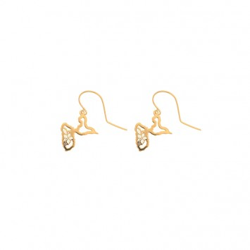 Boucles D'oreilles Guadeloupe Hibiscus Or375