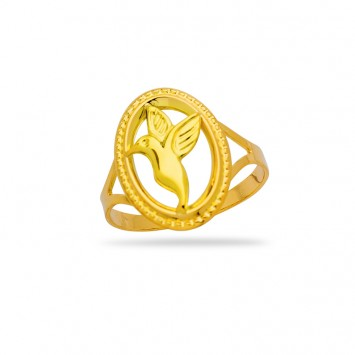 Bague Colibri Taille 56 12*15mm Or750