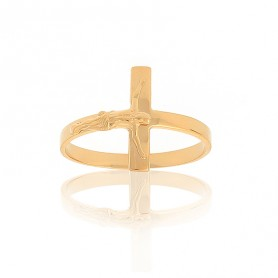 Bague Christ Taille 54 Or375