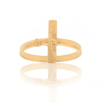 Bague Christ Taille 56 Or375