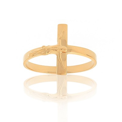 Bague Or375 Christ Taille 56 Corps 2.5mm Christ 13*11mm