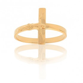 Bague Christ Taille 58 Or375