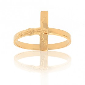 Bague Christ Taille 60 Or375