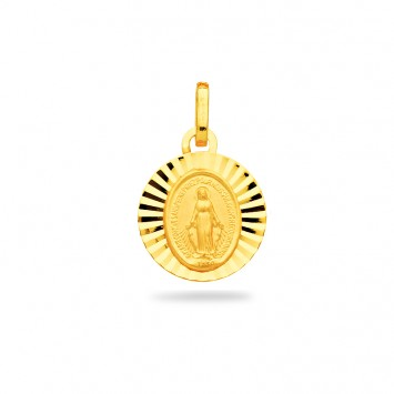 Médaille Vierge Miraculeuse 13*19mm Or750
