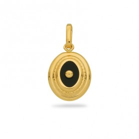 Pendentif Onyx Ovale 10*18mm Or750
