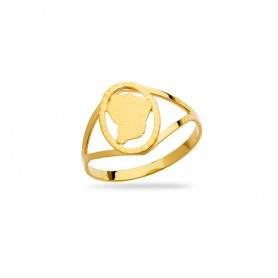 Bague Guyane Taille 54  8*11mm Or750