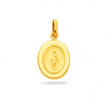 Médaille Vierge Miraculeuse 11*21mm Or750