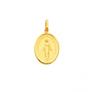 Médaille Vierge Miraculeuse 16.5*28mm Or375