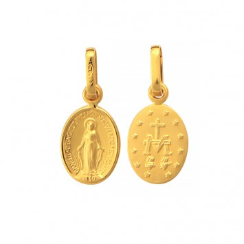 Médaille Vierge Miraculeuse 7 *16mm Or375