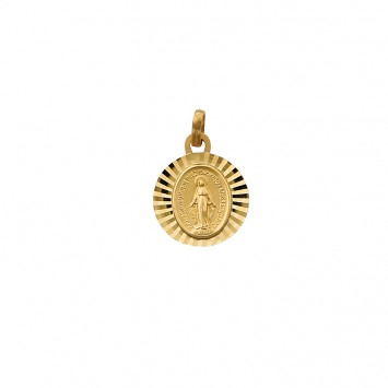 Médaille  Vierge Miraculeuse 13*20mm Or375