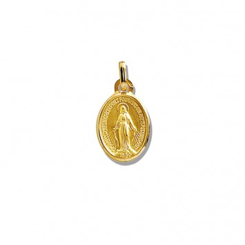 Médaille Vierge Miraculeuse 9*18mm Or375