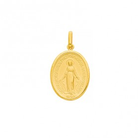 Médaille Vierge  Miraculeuse 14*25mm Or375