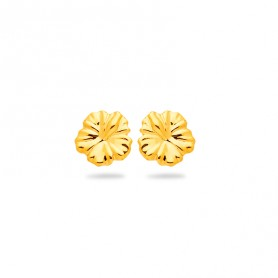 Boucles D'oreilles Hibiscus 6mm Or750