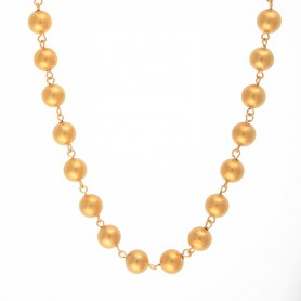 Collier Grain D'or 10mm 50cm Plaqué Or